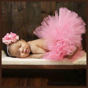 Other - Newborn Baby Pink Tutu and Headband Photo  Prop